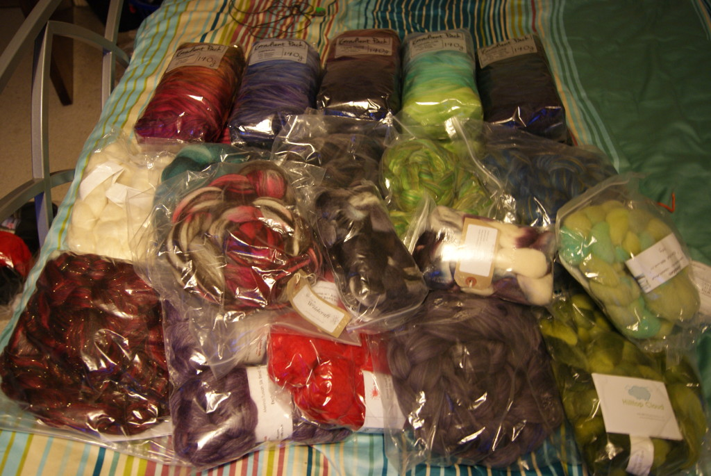 Dyed fibre stash January 2016