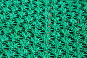 close up of shawl body
