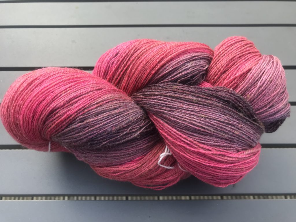 Red gradient yarn