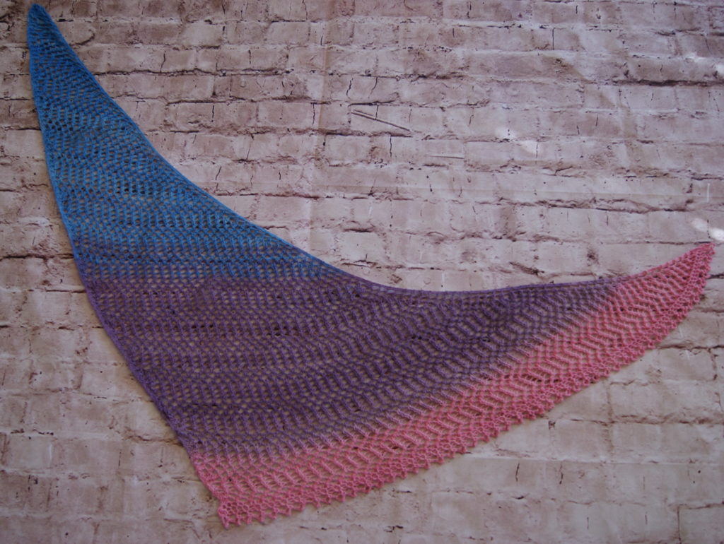 Bimini shawl photographed from above