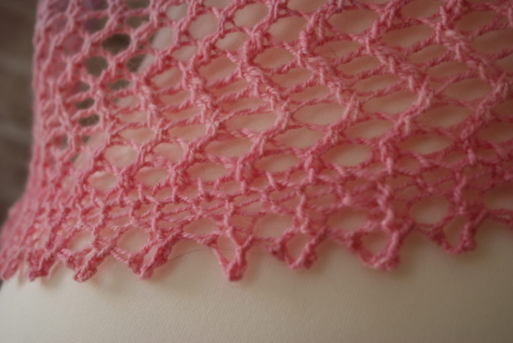 Close up of bimini shawl edging